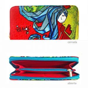Billetera – Niña pelo azul